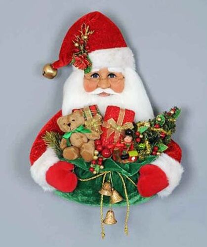 CHRISTMAS DECORATIONS - SANTA WITH TOY SACK WALL ART - DOOR DECORATION