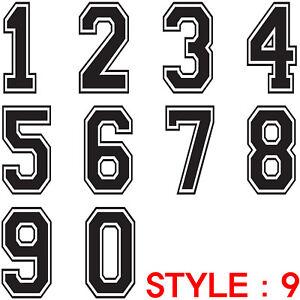 Custom Iron On Heat Transfer PVC Number Vinyl Uniform Jersey Team Sports Style 3