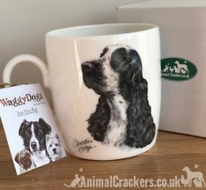 gift boxed Dachshund Sausage Dog fine china mug printed 2 sides Leonardo range