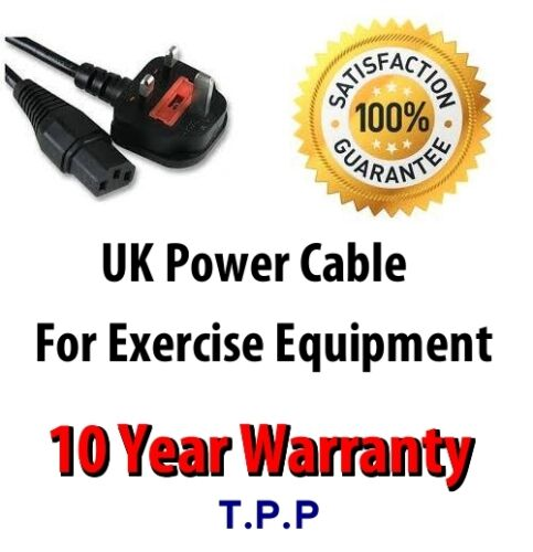 UK Mains Power Lead Cable Cord For NordicTrack Treadmill 10 YEAR WARRANTY