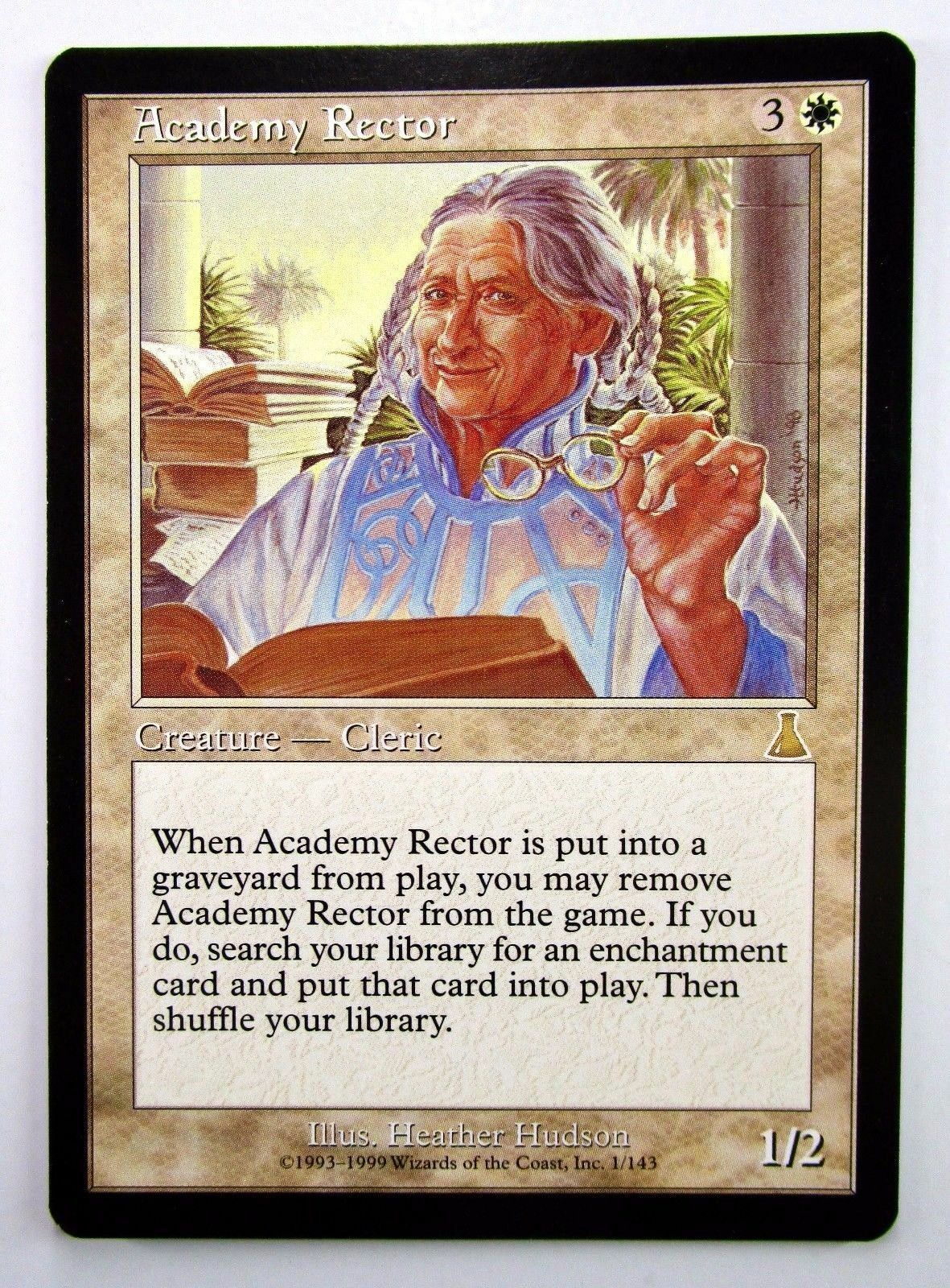 ⭐️ Academy Rector - LP, Urza's Destiny, Magic MTG, RL get 1 FREE BONUS FOIL RARE