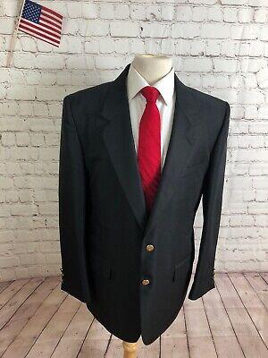 Suits & Suit Separates Punctual Custom Made Men's Black Solid Wool Blazer Sport Coat Suit Jacket 46r $295 Firm In Structure
