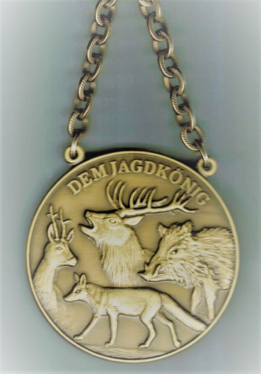 Jagdkette Jagdmedaille Hochwild mit Gravur Text bronze bronze bronze 80 cm lang 9297c6
