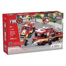 Fire Engine and Road Car BricTek Building Block Construction Toy Brick Bric Tek