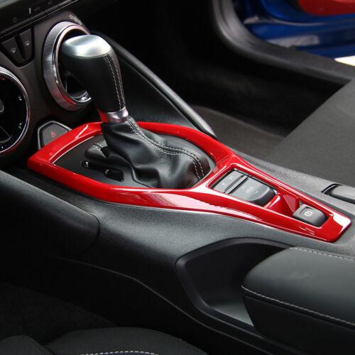 1pcs Interior Gear Box Shifter Frame Panel Cover Trim For Chevrolet Camaro 2017+