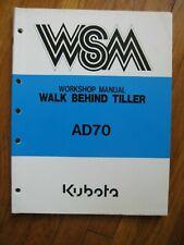Kubota Ad70 Ad 70 Walk Behind Tiller Workshop Service Manual