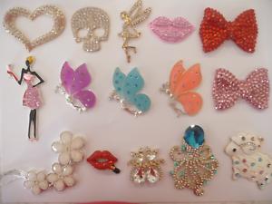 3D Diamantes Bling Rhinestone Alloy DIY Phone Case Handbag Dress Flower Cat UK