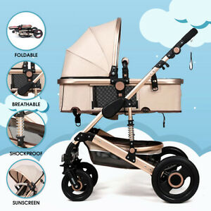 8IN1-Baby-Pram-Stroller-Pushchair-Car-Seat-Carrycot-Travel-System-Buggy-FREEBIES