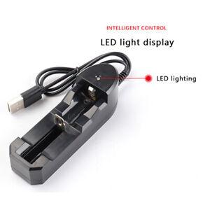 Plastic-3-7V-Lithium-18650-Single-Slot-Charger-Li-ion-Battery-1000mA-USB-Charger