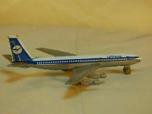 Vintage-Diecast-A126-Passanger-avion-Lufthansa-Boeing-707-9cm-de-largo-Modelo-Juguete