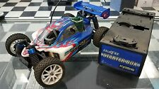 Kyosho Half 8 series Mini Inferno RC buggy 1:16 scale with Sirio 60 Nitro engine