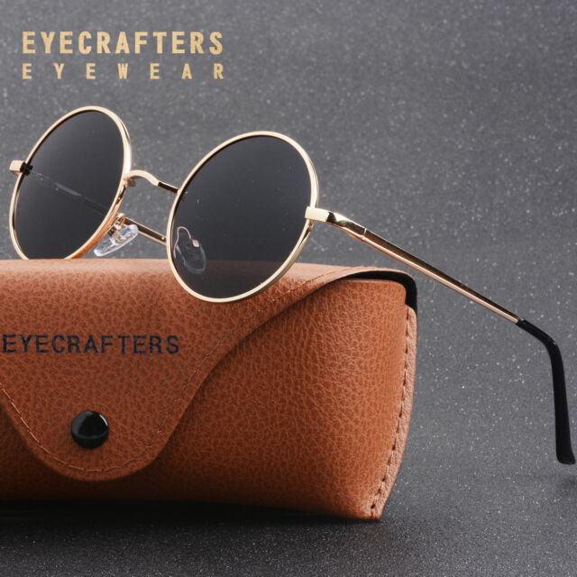 1747cb2e4258 Dollger John Lennon Round Sunglasses Steampunk Style Sturdy Metal Spring  Frame M for sale | eBay