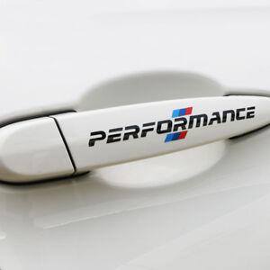 4x Black Car Door Handle Doorknob Sticker Decals For BMW E39 E60 E90 F30 M3 M5