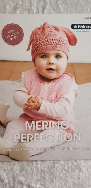 7feb9f9f3040 Patons Pattern Book  8025 Merino Perfection 6 Designs for 3 Months ...