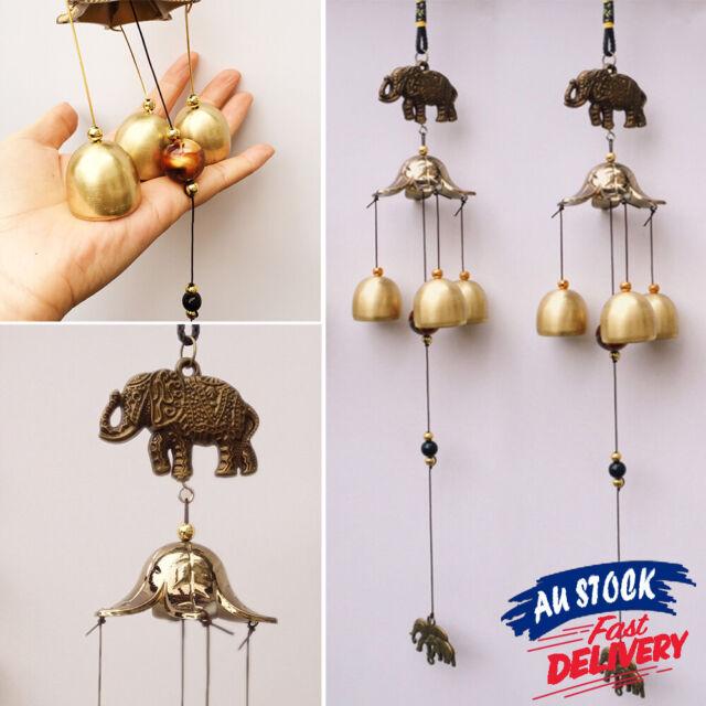 Vintage Metal Hanging Elephant Wind Chimes Style Window Bells Decor Antirust