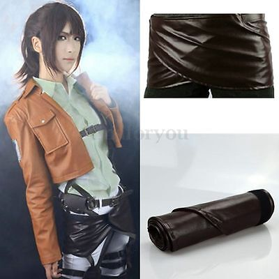 Attack On Titan Shingeki No Kyojin Leather Skirt Hookshot Belt Cosplay Hot