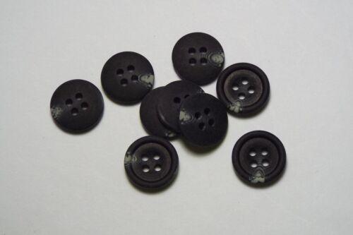 10pc 15mm charbon noir mock horn cardigan pantalon shirt kids baby bouton 0511