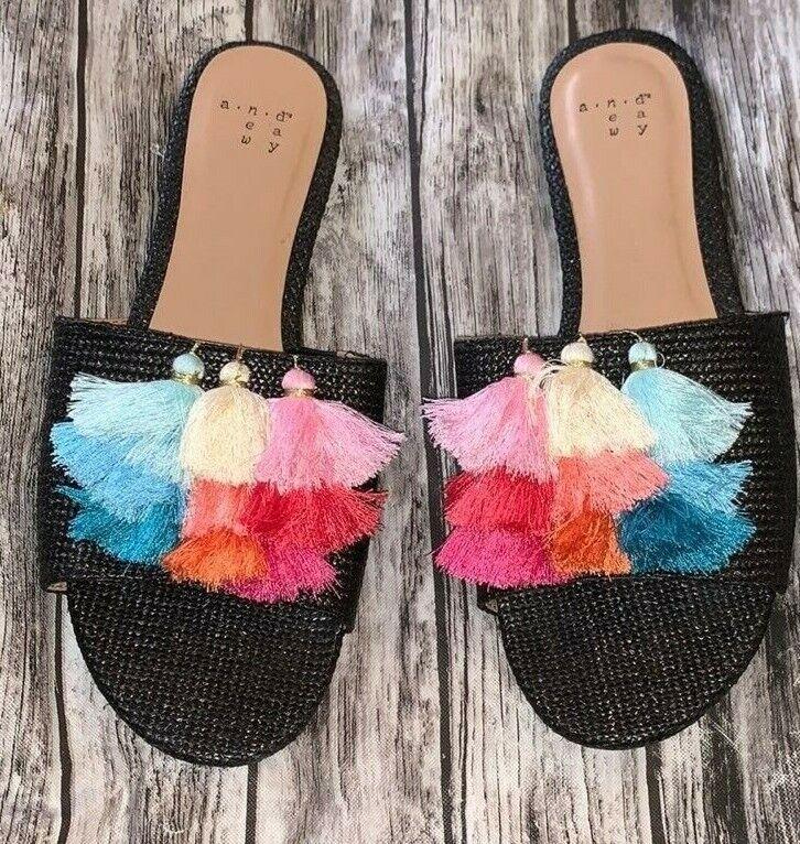 A New Day Pom Pom Flats Women Shoes