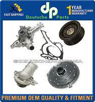 Mercedes W163 Ml320 Ml350 Water Pump Idler Pulley Thermostat Fan Clutch Kit