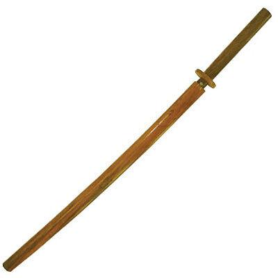 """40"""" Wooden Samurai Sword Bokken with Wood Scabbard Kendo Katana Practice Boken"""