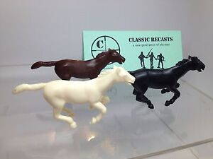 Recast-Marx-60mm-Running-Horse-Set-Of-Three