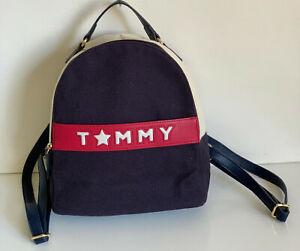 NEW-TOMMY-HILFIGER-RED-BLUE-BEIGE-BROWN-TRAVEL-BACKPACK-BAG-PURSE-89-SALE