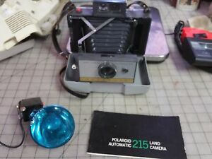 POLAROID-215-CAMERA-FLASH-amp-MANUALS-Good-Bellow-Shutter-amp-View-Finder