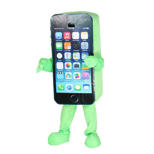 New Advertising Cell Phone Mascot Cosplay Costume Adult  Size Dress Cosplay Gift