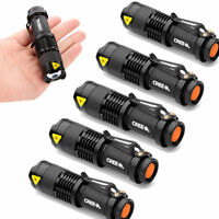 5pcs Mini Zoomable 300lm 7w Cree Led Bicycle Flashlight Torch Bike Front Light