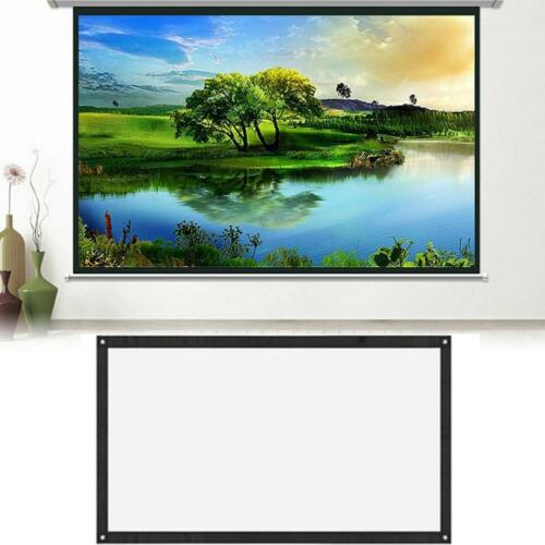 """Wall Mounted 100/"""" 16:9 Home Movie Manual Projection Screen Pull Down Projector"""