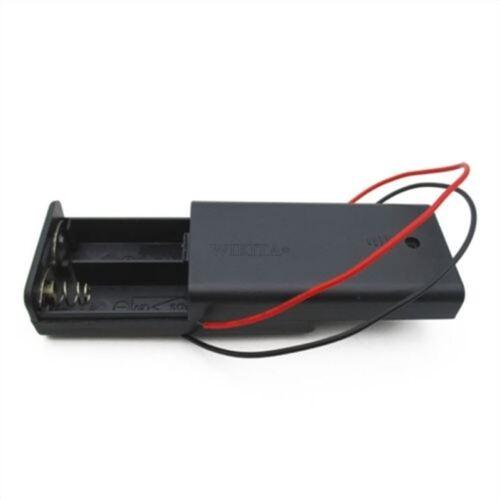 2Pcs 2 Aa 2 A Battery Holder Box Case avec interrupteur ON//OFF//housse 2Aa Batterie nouveau HG