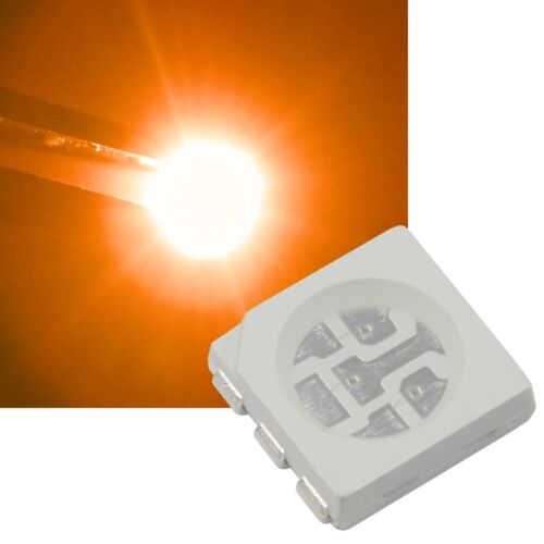 50 Orange 5050 SMD LEDs 3-Chip//SOP 6 ORANGE-ARANCIONE oransje naranja LED