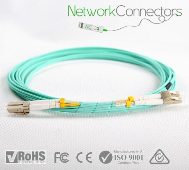 LC - LC OM3 Duplex Fibre Optic Cable (70M)