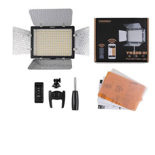 YONGNUO YN300 LED Luz de Vídeo Cámara para III Zoom YouTube uTube 5500K EE fijo UU