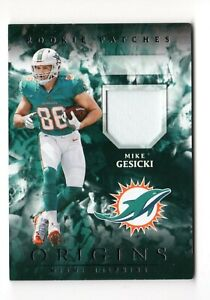 MIKE GESICKI NFL 2018 PANINI ORIGINS ROOKIE PATCHES (MIAMI DOLPHINS)