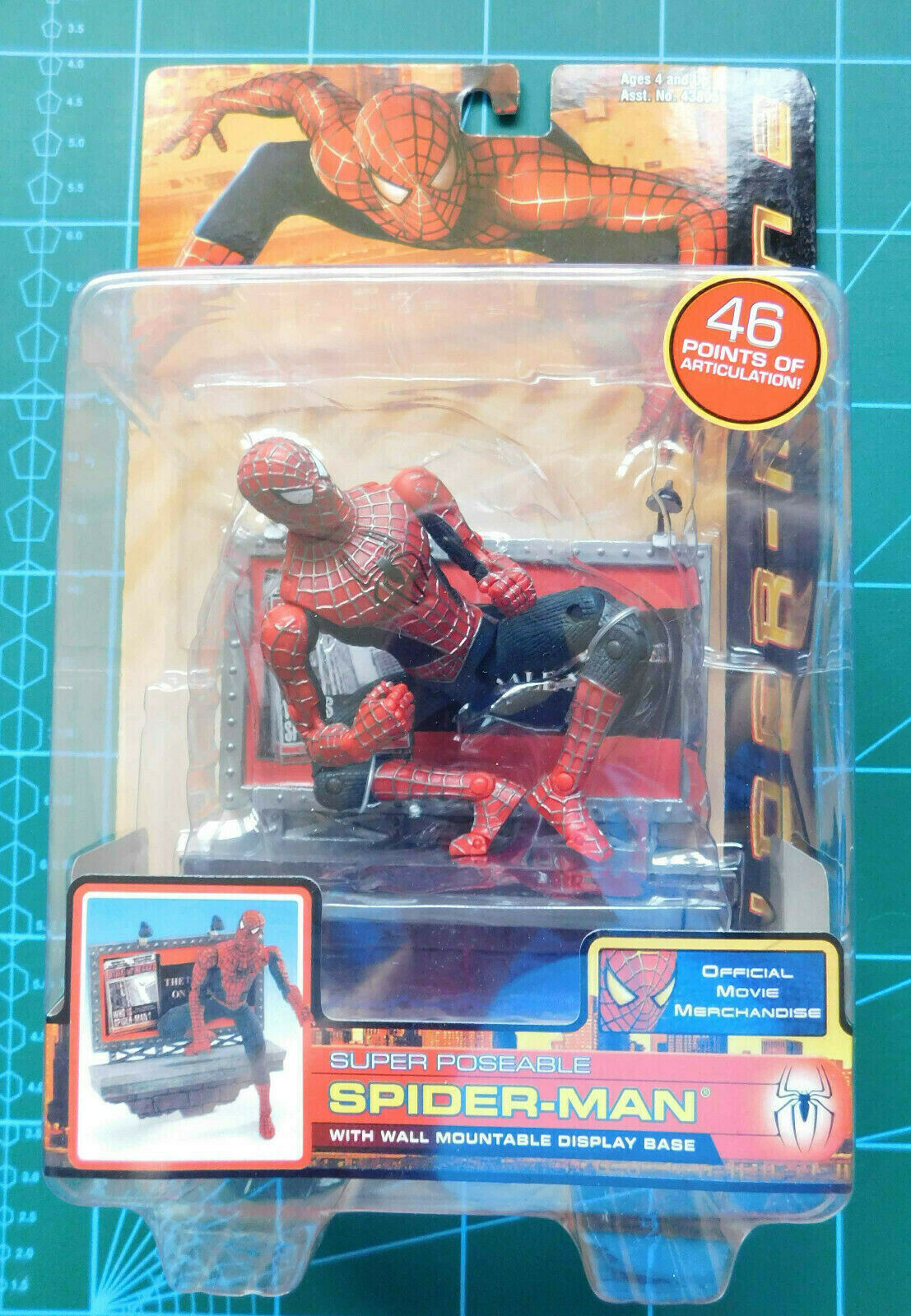 Hombre Araña 2 súper Poseable Spider-Man Figura Marvel JugueteBiz 2004 leyendas