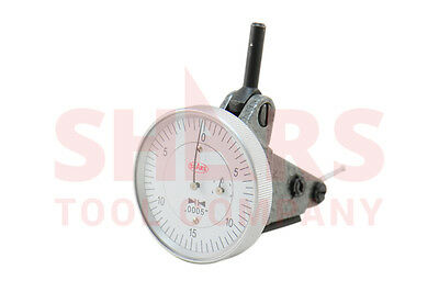 """Swiss Type Vertical Dial Test Indicator .0005 Graduation 0-0.060"""" Dovetail SHARS"""