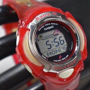 Casio-Baby-G-Women-039-s-BGX-221-Solar-Red-Jelly-Watch-JAPAN-NEW-SOLAR-BATT