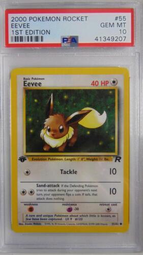 Eevee 55//82 Team Rocket 1st Edition PSA 10 Gem Mint Rare Pokemon Card