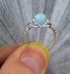 Amazonite-Gemstone-Ring-in-Sterling-Silver-Wire-Wrapped-Bead-Ring
