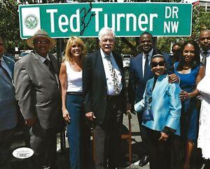 Ted Turner TBS CNN signed 8x10 photo autographed Atlanta Braves JSA