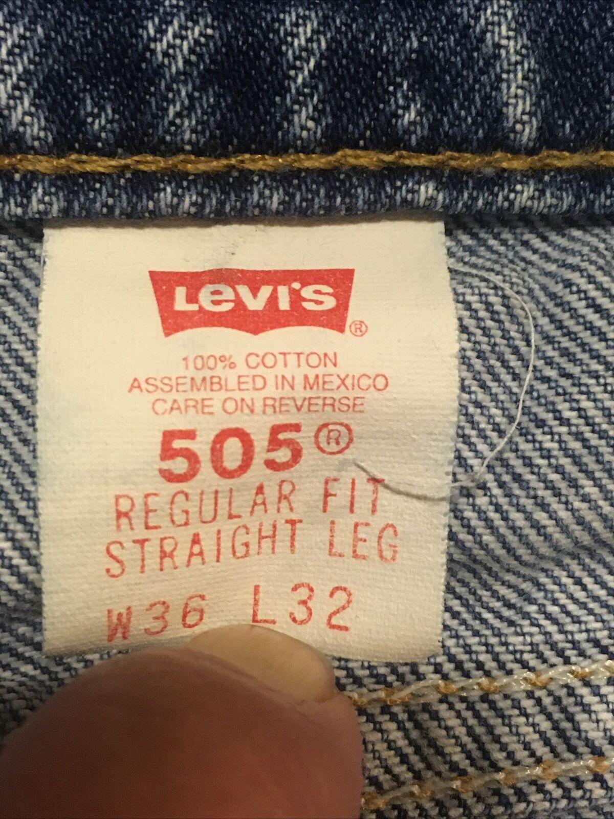 Vintage 1990s Levis 505 Orange Tab Denim Blue Jea… - image 9