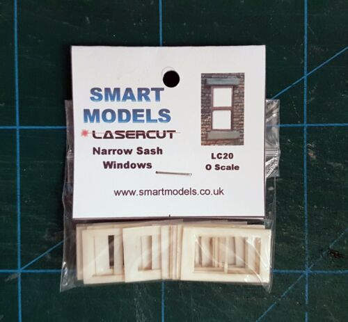 LC20 Lasercut Narrow Sash Windows O scale pk of 6 Smart Models