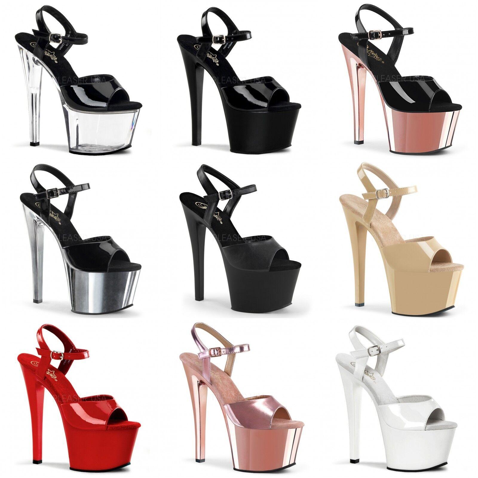 con il 100% di qualità e il 100% di servizio PLEASER Sky-309 PALO Lap Dance Tacco a Spillo Scarpe Sandali Sandali Sandali Cinturino Alla Caviglia  migliore qualità
