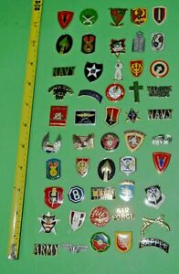 50-New-Army-USMC-USAF-etc-Hat-Lapel-flats-no-pins-used-to-make-Jewelry-Lot-02