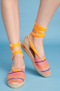 NEW Penelope Chivers Valencia Woodstock Espadrilles Flats Size 37