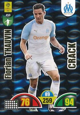 450 THAUVIN # CRACK OLYMPIQUE MARSEILLE OM CARD ADRENALYN LIGUE 1 2019 PANINI
