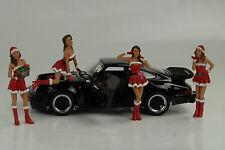 Porsche 911 993 991 964 Figur Girls Set 4 Figuren Christmas 1:18 Diorama no car