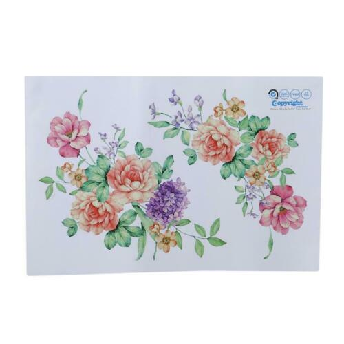 3D Colorful Flower Wall Sticker Peony Fridge Sticker Wardrobe Bathroom Sticker W