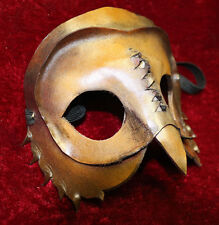 Marrone Gufo uccellino Maschera Veneziana Ballo in Maschera in pelle fatto a mano